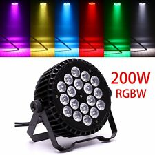 200W RGBW 18 LED DJ Par CAN DMX Stage Light Rainbow Party Bar Program Lights