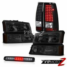 2003-2006 Chevy Silverado Headlights Roof Cab Lamp Raven Black Taillights SMD