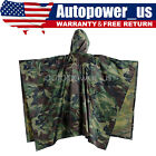 New US Military Woodland Ripstop Wet Weather Raincoat Poncho Camping Hiking Camo