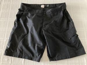 FOX Mens Sz 40 Baggy Cycling Shorts With Padded Liner Black TS1