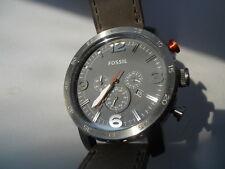 Fossil men's chronograph leather band,quartz,battery & Analog watch.Jr-1419