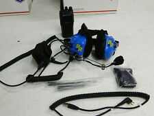 RACING RADIO'S HEADSET WITH ELECTRONIC NOISE CANCELLING & 1 CP200 RADIO #4