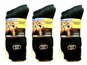 12 Pairs Mens Wool Rich Boot Hike Walking Thermal Chunky Work Socks Size 6-11