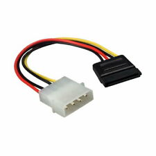 "Kentek 6"" Molex 5.25 to SATA Power Cable Male to Female M/F Connector PC HDD MB"
