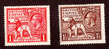 Great Britain 185 &186 1924 British Lion and Kgv, Mh Og Watermark #35