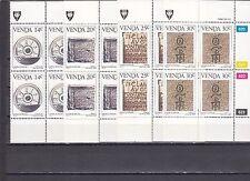 a128 - VENDA - SG139-142 MNH 1986 HISTORY OF WRITING - BLOCKS OF 4
