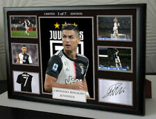 NEW CRISTIANO RONALDO JUVENTUS LIMITED EDITON Framed A4 Canvas Tribute Signed