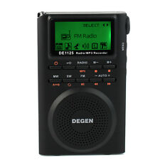 Digital DEGEN DE1125 Radio Recorder FM/MW/SW/AM Radio MP3 Player DSP 4GB Hot
