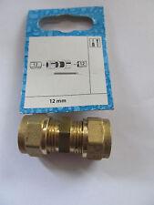 Fitting gerade Klemmringverschraubung   Messing 12 mm x 12mm