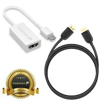 Mini DisplayPort DP to HDMI Adapter Cable + 6 FT HDMI Cord for Apple MacBook Pro