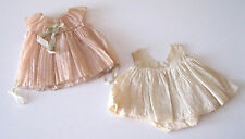 SHIRLEY TEMPLE 1930'S PINK PLEATED DANCING DRESS & BODYSUIT FOR COMPOSITION DOLL