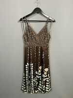 TED BAKER Dress - Size 3 UK12 - Brown - Great Condition - Women's