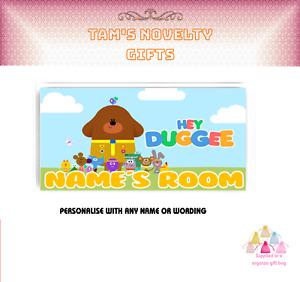 Hey Duggee children's personalised door plaque kids perfect gift