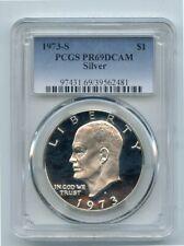1973-S Silver Proof Eisenhower Dollar (PR69DCAM) PCGS