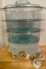 TEFAL 3 Tier Steam Cuisine Ultra Compact Food Steamer (No Box New~NEVER USED)