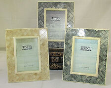 TOZAI HOME 4x6 Piazza Picture Frame Handcrafted Crosshatch Pattern  LOT OF 3