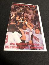 1992 High Desert Mavericks Baseball Pocket Schedule DailyPres Version Padres Aff