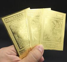 JAPANESE VERSION Custom Yugioh GOLDEN Metal Card Egyptian 3 Gods G4-01 02 03