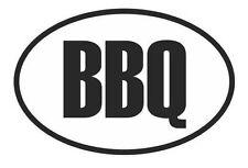 BBQ bar b que oval pork pig roast grill vinyl decal bumper sticker car truck
