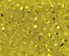 """Czech Glass Seed Beads Size 6/0 """" SILVER LINED CITRUS """" Loose  40 grams"""