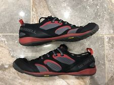 MERRELL Mens 10.5 True Glove Black Molten Lava BAREFOOT Running Shoes Vibram siz