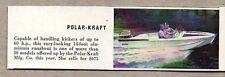 1959 Magazine Photo Polar Kraft 14 Foot Aluminum Boats