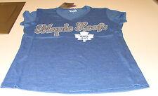 Toronto Maple Leafs NHL M Hockey Women Ladies Blue Shirt Hockey Triblend Touch