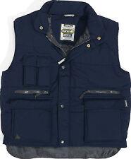 Delta Plus Panoply Sierra Padded Bodywarmer Gilet Vest Jacket Work Pockets XL Navy Blue