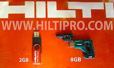 HILTI USB DRIVE (2GB) & MAKITA USB DRIVE (8GB), BRAND NEW, EXCELLENT, FAST SHIP