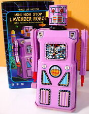 Masudaya Tin Japan Mini Lavender Robot Mint 1997 W/U