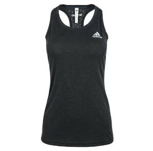 Adidas Women's Clima Chill Tank Top Sleeveless Black Gym Yoga Fitness Tee AI0879