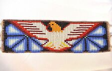 Glass Seed Bead Eagle South American Ceremonial Bracelet, Colombian Beadwork
