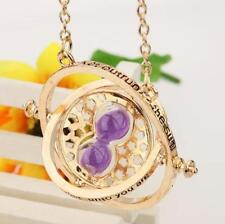 NewHarry Potter Time Turner Necklace Hermione Granger Rotating Hourglass Pendent