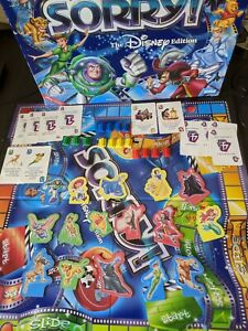 2001 Sorry! Disney Edition Replacement Parts Pieces Tokens Cards Movers