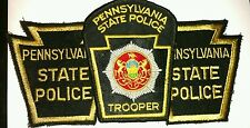 Lg Shoulder Patches  Pennsylvania   1State Police Trooper & 2 State Police