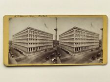New York A. T. Stewart Ne Store Photographie Stereo Vintage Albumine