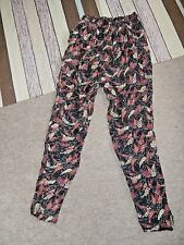ATMOSPHERE Womens HIPPY FESTIVAL Floral HAREM TROUSERS~UK 8~Excellent Condition