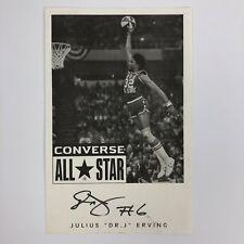 Dr. J / Julius Erving Signed Converse All Star Black & White Picture