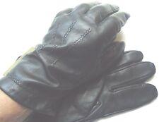 "Men's ""Playboy"" Genuine Leather 100% Cashmere Lined Gloves,Black,XLarge"