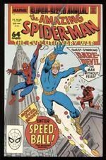AMAZING SPIDER-MAN ANNUAL #22 9.4 NM 1ST APP OF SPEEDBALL NEW WARRIORS