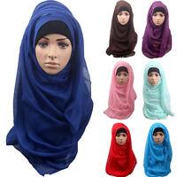 Cotton Comfortable Muslim Islamic Ramadan Hijab Long Scarf Shawl Wrap Headwear W