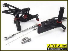 Yamaha YZF R3 2015 Area 22 Adjustable Rear Sets Black Rearsets Foot Controls R-3