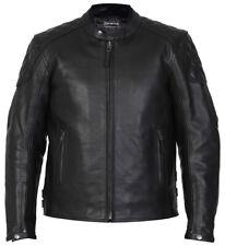 Mens Leather Motorbike Motorcycle Jacket Biker Black CE Armoured Diamond Skintan