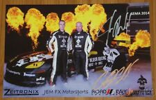 2014 Jet Black Racing Chevy Corvette signed SEMA Show postcard Johnny O'Connell