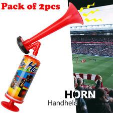 2pcs Pump Air Horn Loud Horn Football Boat Marine Festival Party Hand Held Horn