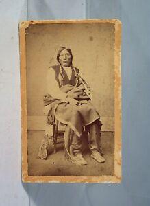 1860s NATIVE AMERICAN SOUTHERN CHEYENNE CHIEF BOB TAIL ALBUMEN CDV PHOTOGRAPH