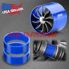 "Mi2KA Turbine Air Intake Fuel Gas Saver Single Fan System Turbo 2.5""-3.0"" Blue"