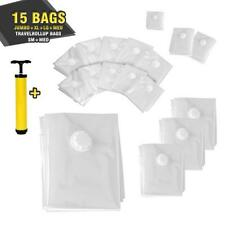 SERENE-LIFE Vacuum Storage Bags - Air Tight Space Saver Bag Bundle (15 Bags)