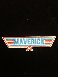 Maverick Red / Blue Top Gun Embroidered Patch, Badge Iron on or Sew on