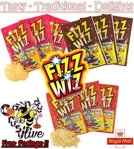 FIZZ WIZ POPPING CANDY RETRO SWEETS 1, 3, 6, 9, 12, 15, 18, 21, 25, FULL BOX 50